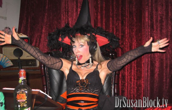 Halloween Mistress Dr. Susan Block.  Photo: Ken Marcus