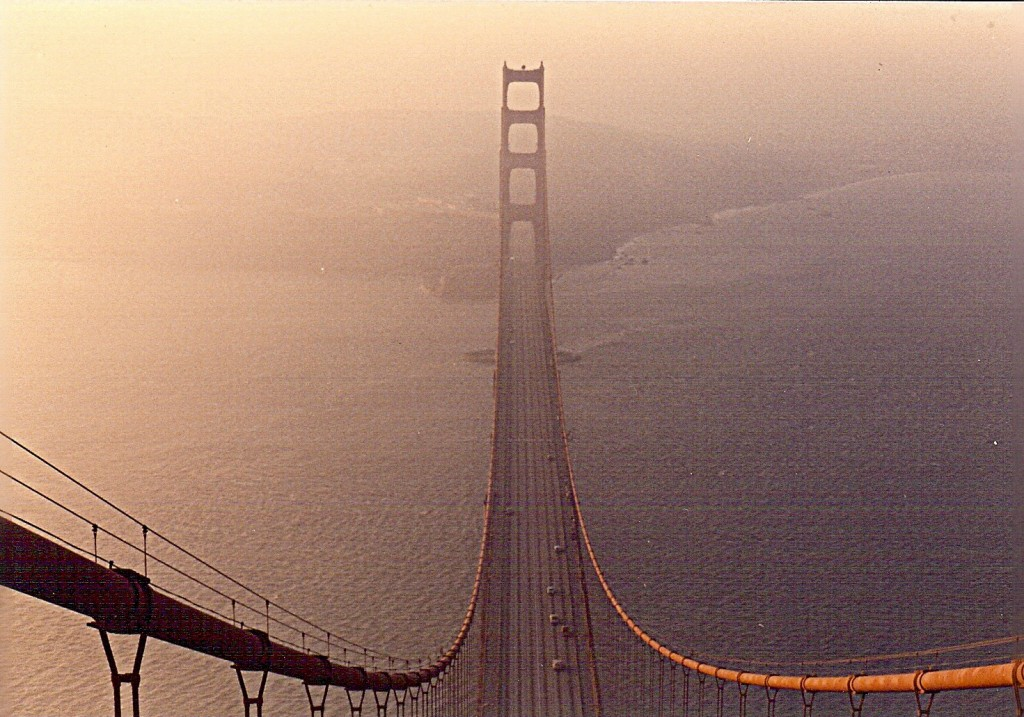 View from the Top of the Golden Gate Bridge (Marin Side).  Photo: Susan Block