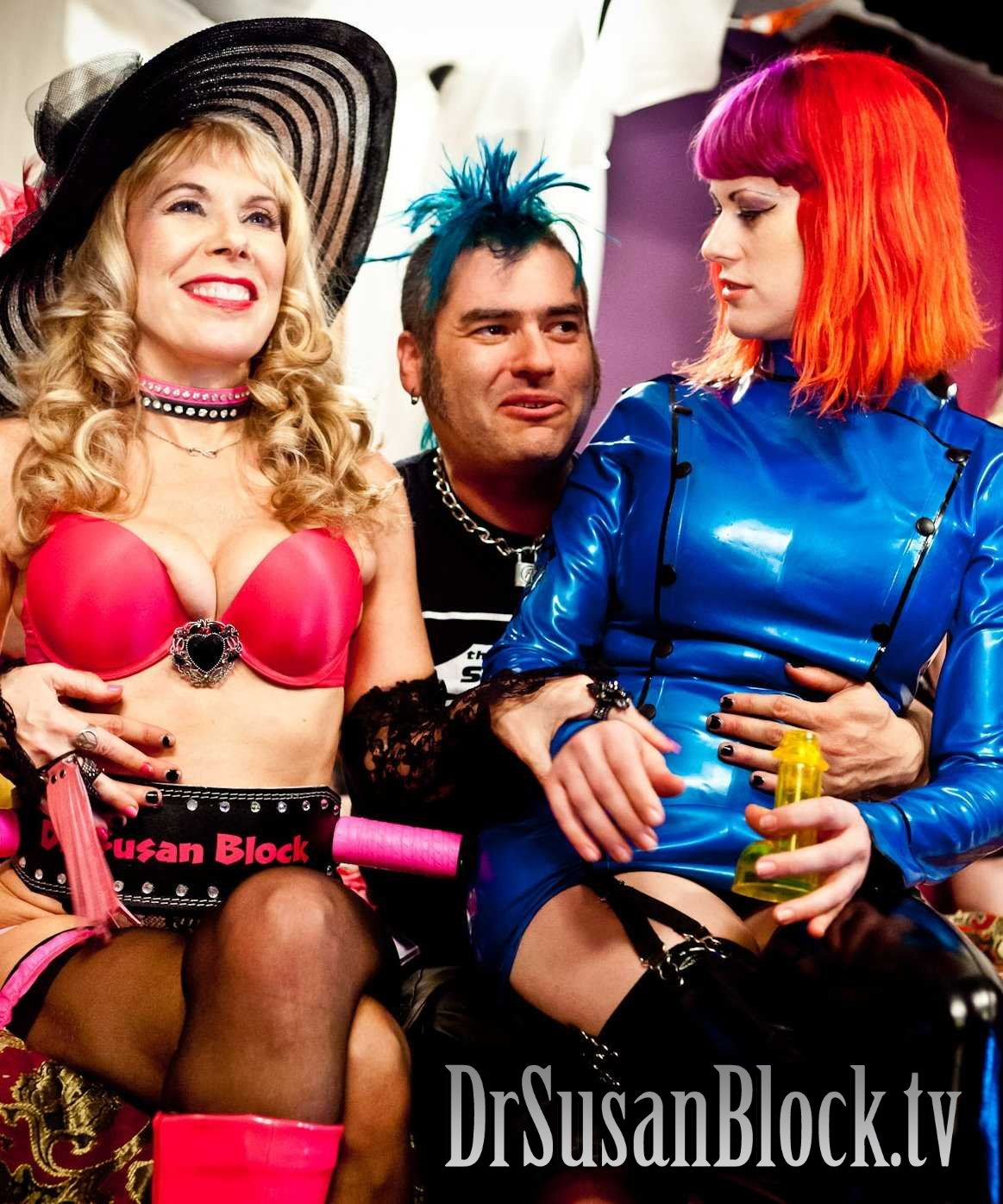 Dr. Suzy, Fat Mike and Goddess Soma on DrSuzy.Tv.  Photo: JuxLii