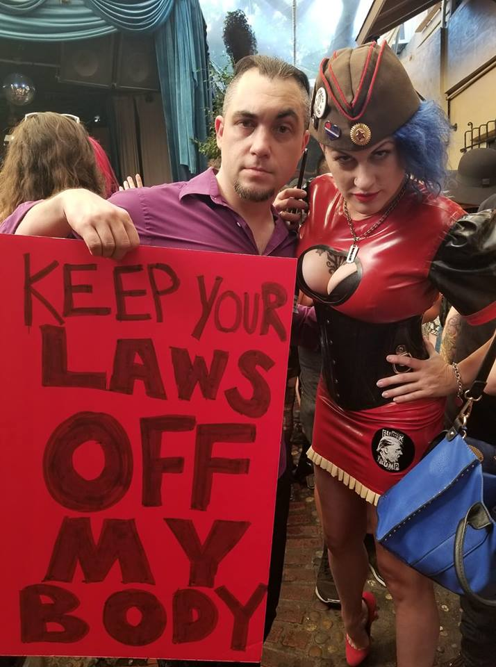 Wry Mantione & Goddess Soma at the International Sex Workers March