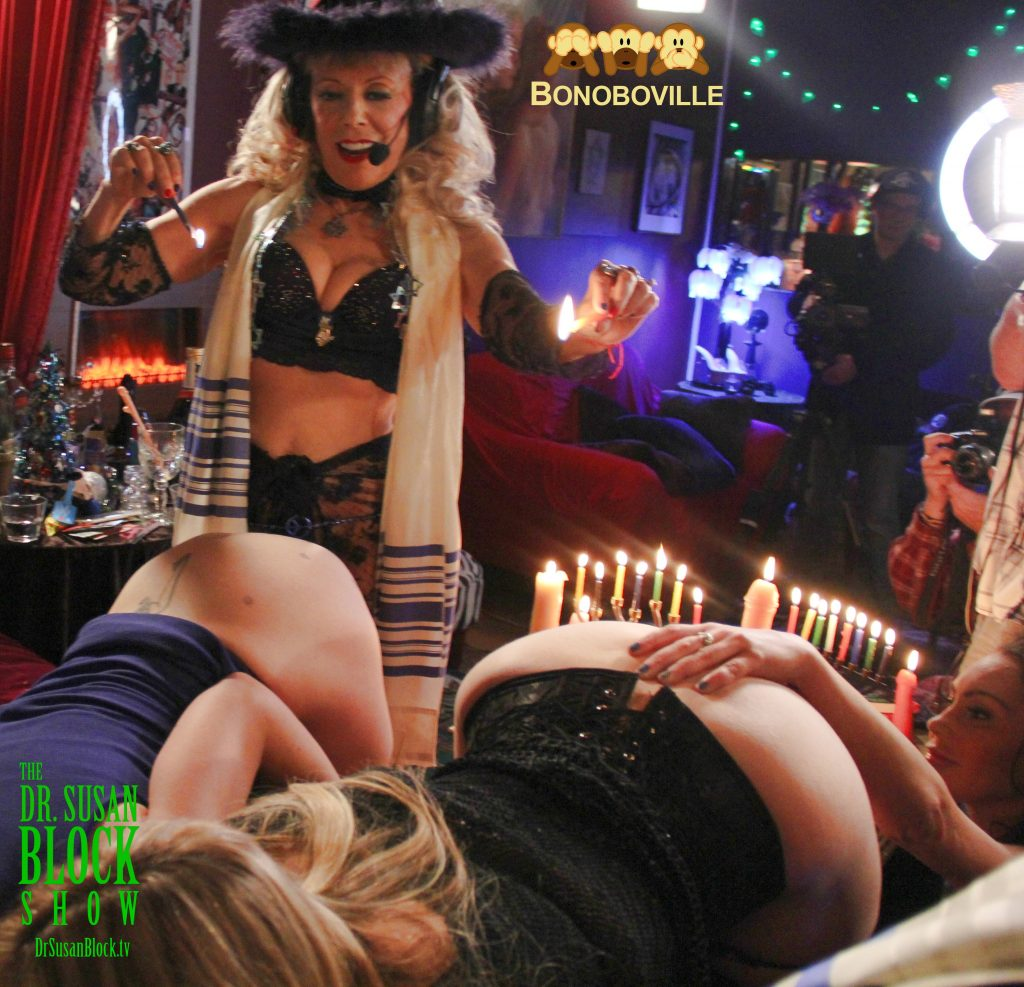 Hot-Wax Hanukkah in Bonoboville, 2016. Photo: Ono Bo
